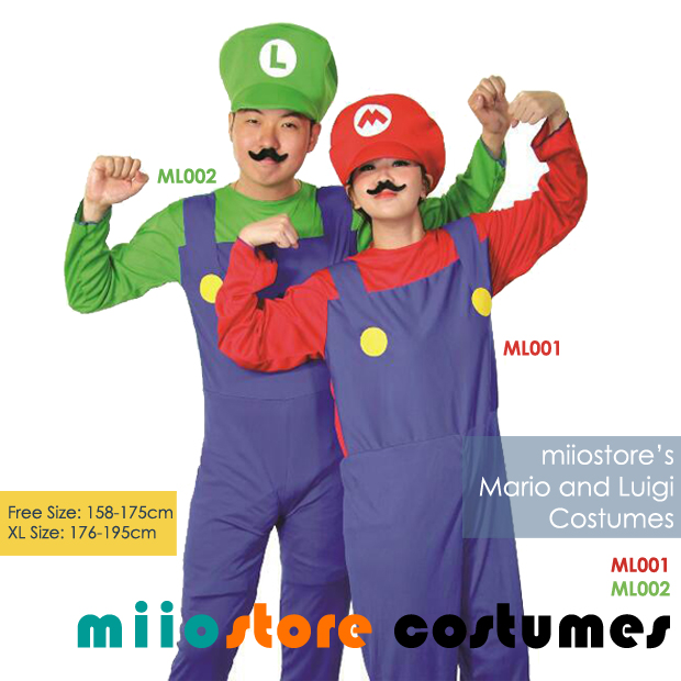 Rent Mario and Luigi Costumes Singapore for Ladies/Men