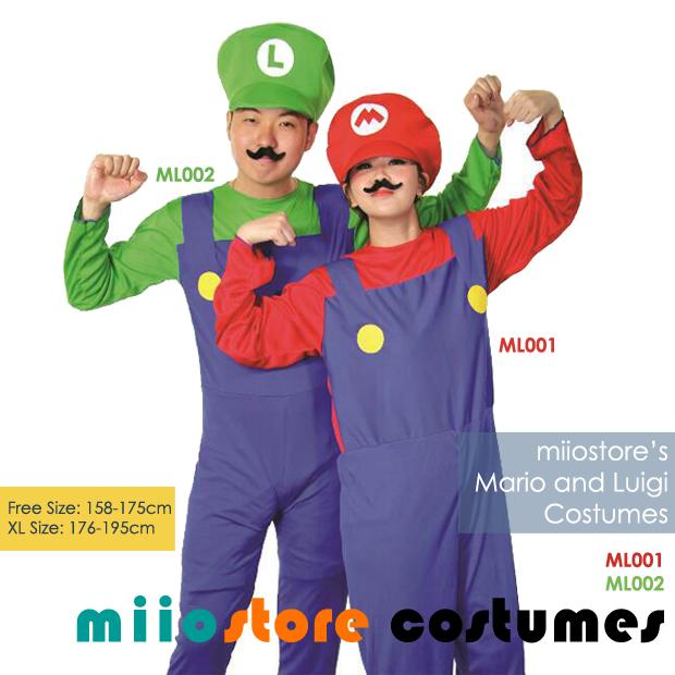 Rent Mario and Luigi Costumes Singapore for Ladies/Men