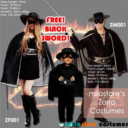 miiostore's Zorro Costumes
