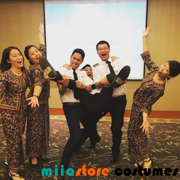 Pilot and SQ Kebaya Costume Dressup - miiostore Costumes Singapore