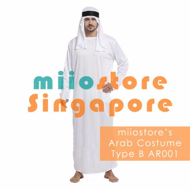 RENT Arab Costume Arabic Costume Arab Prince Arab Outfit Thawb Thobe Thaub Arab Tunic Sheik Costume Sheikh Tunic Traditional Arab Clothing Singapore