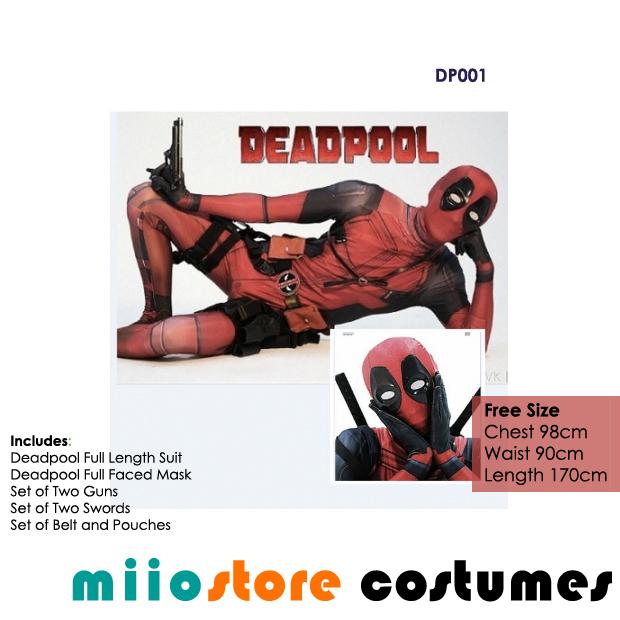 Deadpool Costumes Singapore - miiostore Costumes Singapore - DP001