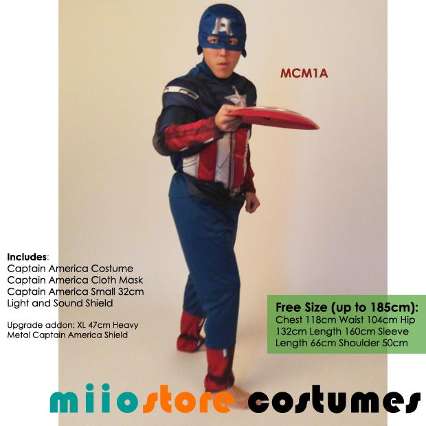 Captain America Costumes MCM1A - miiostore Costumes Singapore