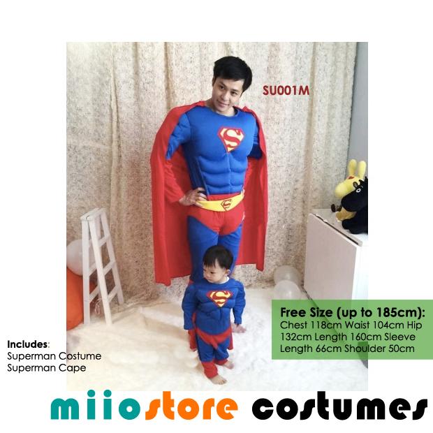 Superman Costumes SU001M - miiostore Costumes Singapore