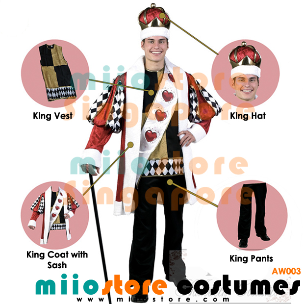 AW003 - King of Hearts Costumes Singapore - miiostore Costumes Singapore