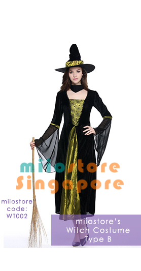 WT002 Witch Costumes - miiostore Costumes Singapore