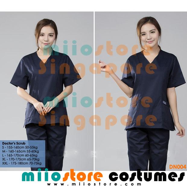 Doctors Scrub Surgery Costumes Wear - miiostore Costumes Singapore - DN004