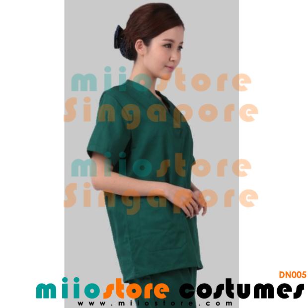 Dark Green Doctor's Scrub - miiostore Costumes Singapore - DN005