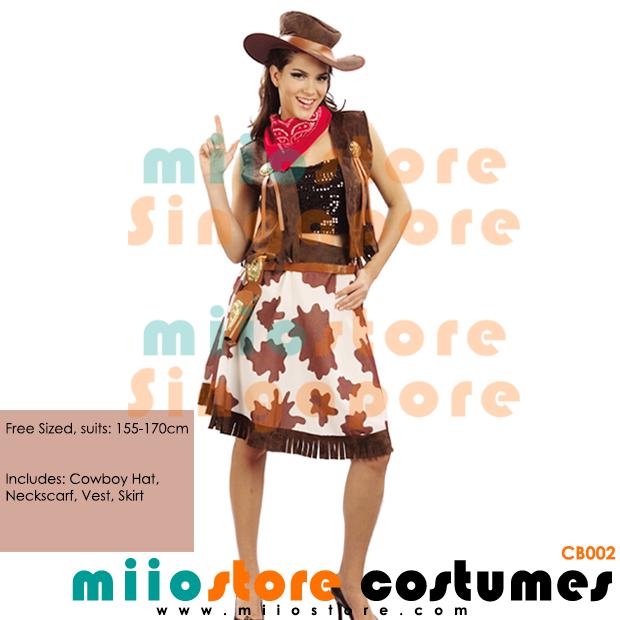 Cowboy Costumes - miiostore Costumes Singapore - CB002