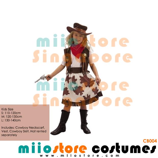Rent Cowgirl Kids Costumes - miiostore Costumes SIngapore - CB004