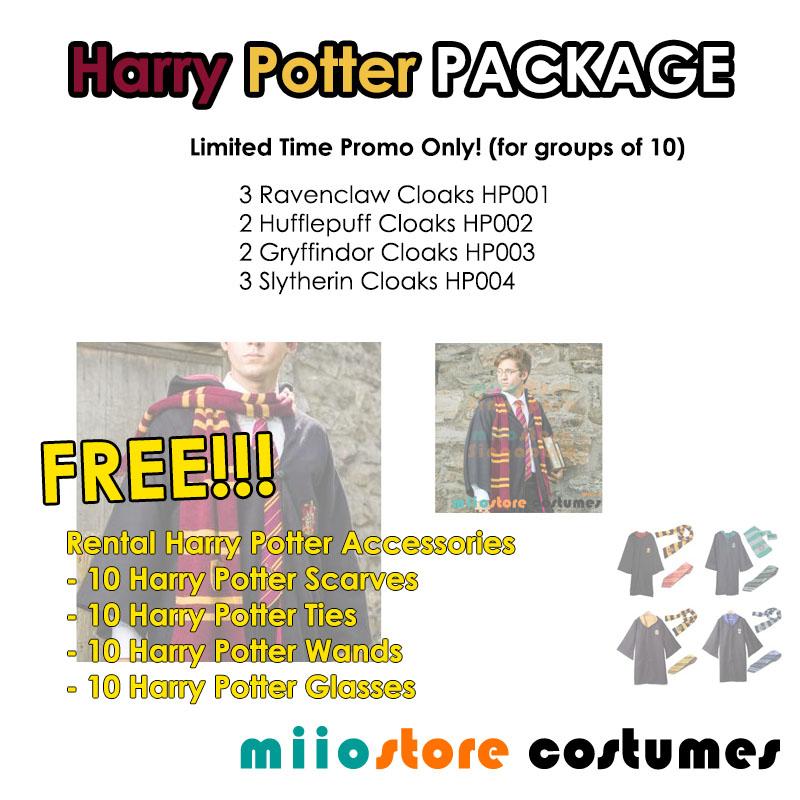 Harry Potter Costume Package - miiostore Costumes Singapore - HP001 HP002 HP003 HP004