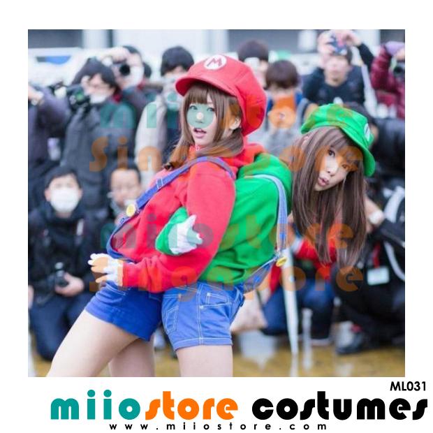 Limited Edition Premium Mario Jockey Cap ML031 - miiostore Costumes Singapore