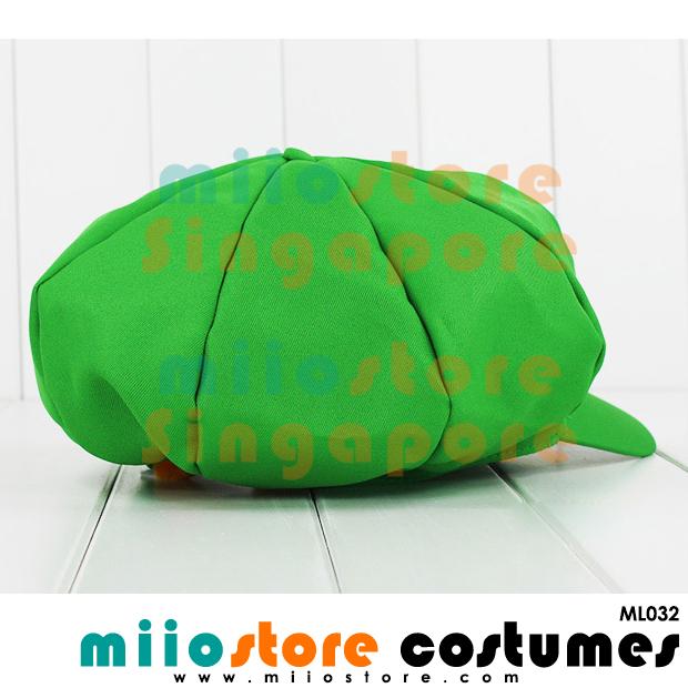 Limited Edition Premium Luigi Jockey Cap ML032 - miiostore Costumes Singapore
